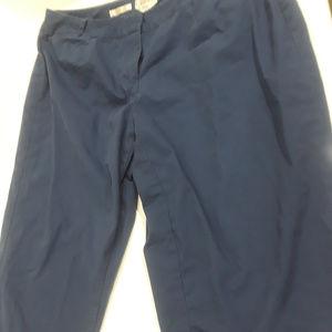 Talbot's Woman Petite navy cropped pants
